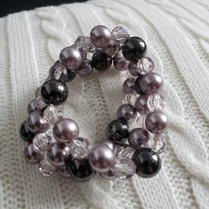 Free with $20 - Bauble beaded bracelet, 3 string